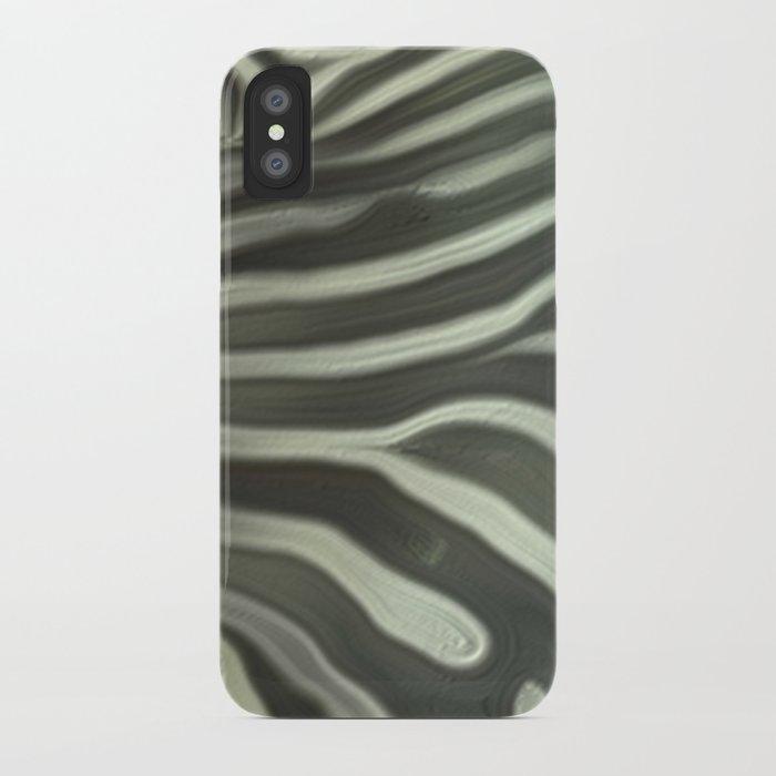 Zebra grazing iPhone Case