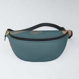 Metal Copper Dots on Emerald Fanny Pack