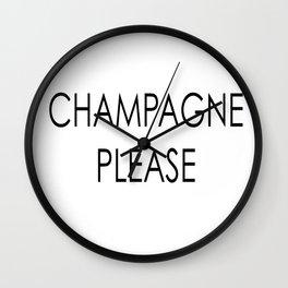 Champagne 2 Wall Clock