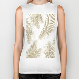 Palm Leaves - Gold Cali Vibes #3 #tropical #decor #art #society6 Biker Tank
