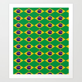 flag of brazil 2-Brazil, flag, flag of brazil, brazilian, bresil, bresilien, Brasil, Rio, Sao Paulo Art Print