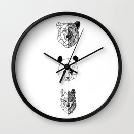 Geometric Animals Wall Clock