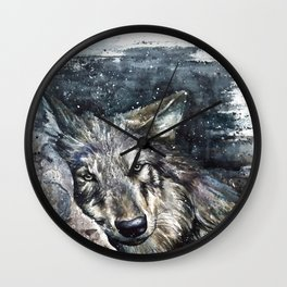 Wolf Wild and Free Wall Clock