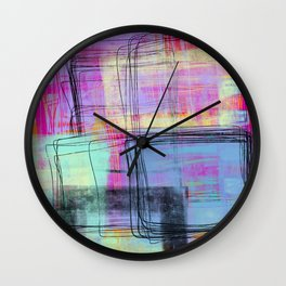 what it sounds like - abstract painting Wall Clock
