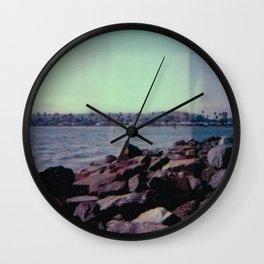 mission bay - san diego - california - cali life - beach - sx-70 one-step - polaroid print Wall Clock