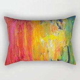 Ombre Rainbow Sunset Rectangular Pillow