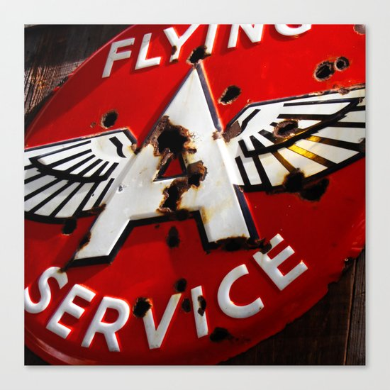 Flying A Service Canvas Print