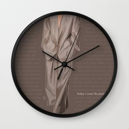 Lady G - MJ Power Suit Fashion Illustration Wall Clock