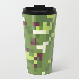 Camouflage military background in pixel style Travel Mug