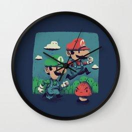 un-super bros Wall Clock