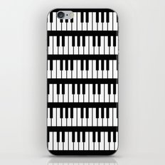 Black And White Piano Keys Pattern iPhone Skin