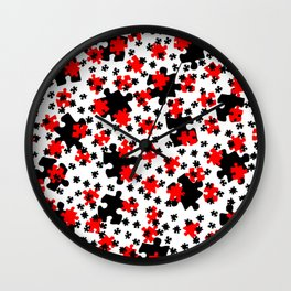 DT PUZZLE SCATTER 3 Wall Clock