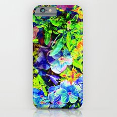 Neon Pansy Garden iPhone 6 Slim Case