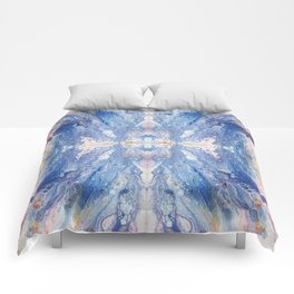Colorful Water Splash Exotica by annmariescreations Comforters