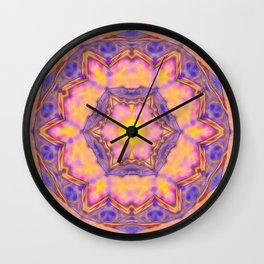 Delicate kaleidoscope in the colors of summer Wall Clock