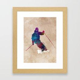 alpine skiing #ski #skiing #sport Framed Art Print