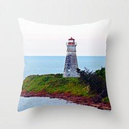 Lighthouse Cape Jourimain N-B Throw Pillow
