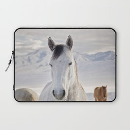 Rustic Winter Horse Laptop Sleeve