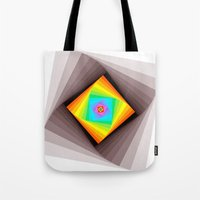 quilt Tote Bags featuring Digital Quilt by Take Five
