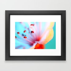 Blossom in Blue Framed Art Print