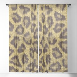 Leopard stains background Sheer Curtain