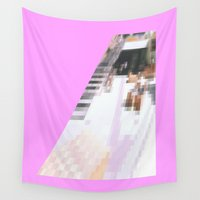 cafe Wall Tapestries featuring cafe by ONEDAY+GRAPHIC