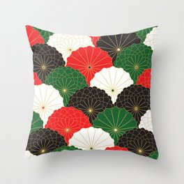 Japanese Chrysanthemum Throw Pillow