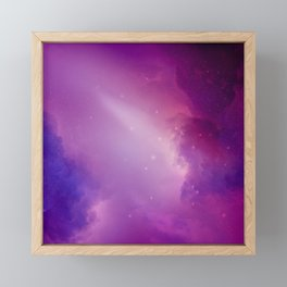 Where Celestial Galaxies Collide Framed Mini Art Print