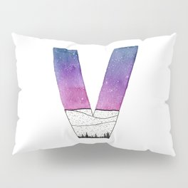 Galaxy Alphabet Series: V Pillow Sham