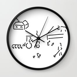 cage farmer farm Wall Clock