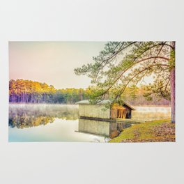 Lakescape at Sunrise Rug
