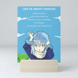 Tensei Shitara Reincarnated as a Slime Rimuru Tempest Anime Quote Mini Art Print