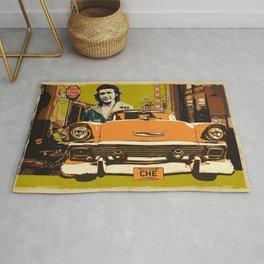 Retro Cuba design with car & Che Guevara Rug