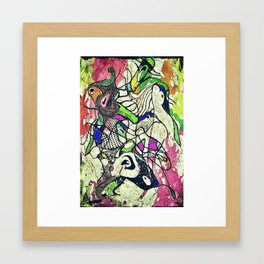A Day At The Zoo Framed Art Print