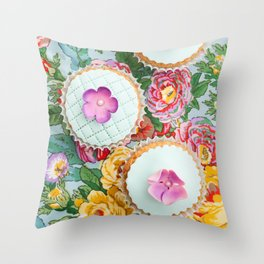 Decorated cupcake Throw Pillow