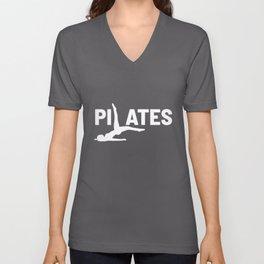 Pilates Teacher Yoga Yogi Mindfull Meditation Gift Unisex V-Neck