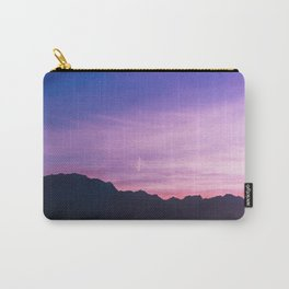 Winter Sunset with Mountains - Landscape Photography Carry-All Pouch