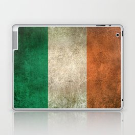 Old and Worn Distressed Vintage Flag of Ireland Laptop & iPad Skin