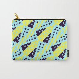 Chocktaw Geometric Square Cutout Pattern - Electric Ray Carry-All Pouch
