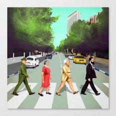 A(llen)bby road - TLV Canvas Print