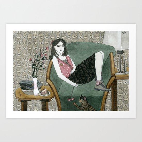Cozy Chair Art Print