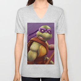 Donatello Teenage Ninja Mutant Turtles by Big Foot Studios Unisex V-Neck