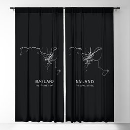 Maryland State Road Map Blackout Curtain
