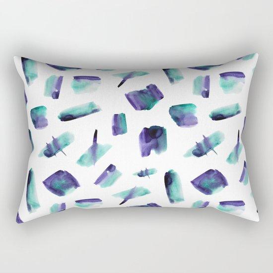 Zero gravity || abstract watercolor Rectangular Pillow