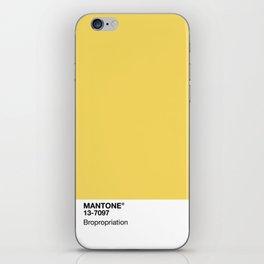 MANTONE® Bropropriation iPhone Skin