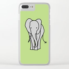 Big Elephant Clear iPhone Case