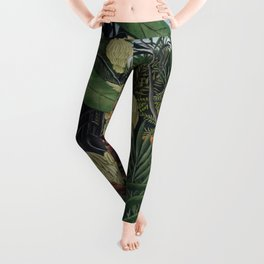 Fight between a Tiger and a Buffalo Leggings