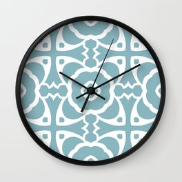 Abstract Decorative Pattern 69 - Rock Blue, Sinbad Wall Clock