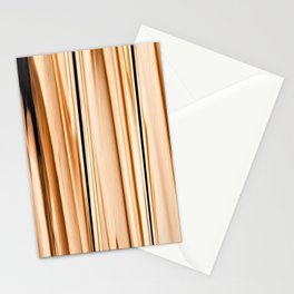 wooden abstract striped pattern Stationery Cards