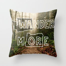 Wander More - Forest Throw Pillow